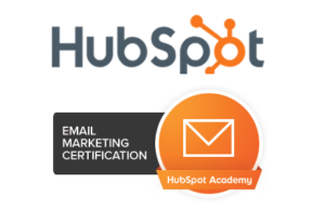 We are certified by HubSpot for Email Marketing.